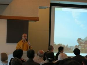 美術館の仏像展での講演